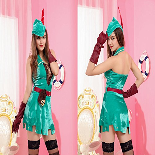 Gorgeous Robin Hood Kostüm Kleid Uniformversuchung Greenwood Held ()