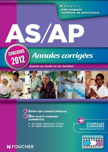 AS/AP Annales corrigées Concours 2012
