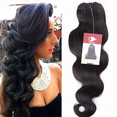 My-lady 35cm-60cm extension capelli veri matassa tessitura mossi 100% remy virgin human hair weft body wave (35cm -100g)