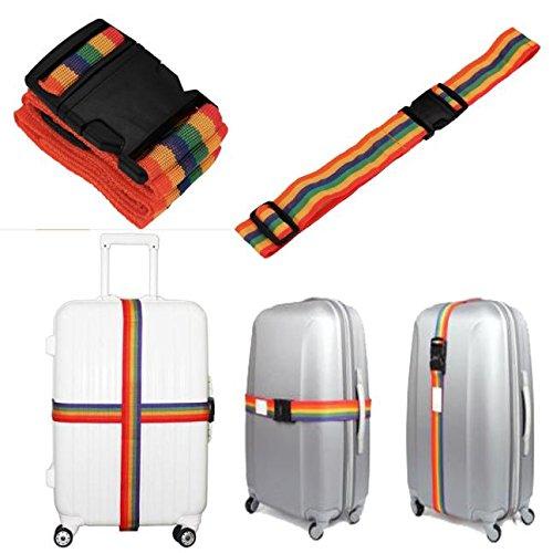 Rucksack damen TianranRT Rucksack Tasche Gepäck Koffergurte Gepäck Regenbogen Gürtel Verstellbar Neu -
