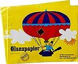 Glanzpapier gummiert, 24 Blatt
