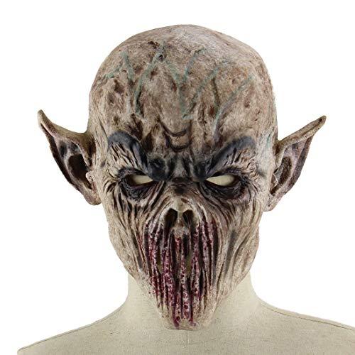 XINLAI Halloween Ghost Festival Maskerade Maske Realistic Edition Horror Ghost Latex Kopfbedeckung Gruselige Zombie DäMonen Maske