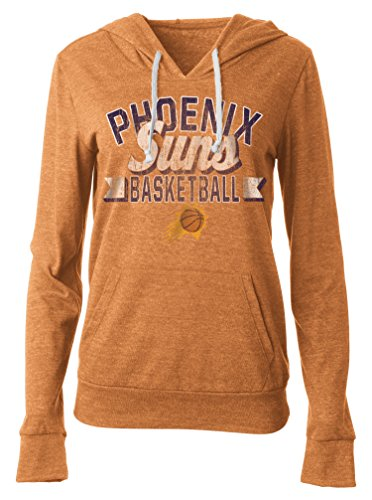 5th & Ocean NBA Phoenix Suns Damen Tri Blend Jersey Pullover Hoodie mit Beuteltasche, Größe L, Tri Natural Orange -