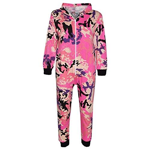 Overall Kostüm Camo - A2Z 4 Kinder Kinder Strampelanzug Mädchen Jungen TarnungAufdruck Alles in einem Jumsuit - A2Z Camo Strampelanzug Baby Pink - 13 Jahre
