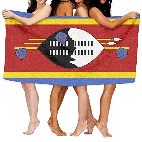 LUOL Soft Beach Towel Flag of Swaziland Home Bathroom Hotel Bath Sheet Sets Durable Sports Absorbent Swimming Pool Spa Gym Towels Easy Care Machine Wash (Hotel Bath Sheet)