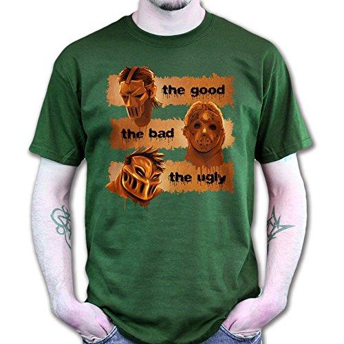 The Good The Bad The Ugly Guys Horror Film Scary Halloween T-shirt DunkelGrŸn