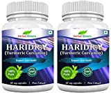 HerbalGreens Turmeric Curcumin (Haridra) 500mg Extract 60 Caps (Pack of 2)
