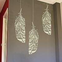 Waldfeder Wandschablone - Feder Schablonen für Wände - Maler Schablonen