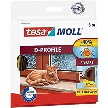 Tesa 05393-00101-00 - Burlete de caucho perfil D, 6 m x 9 mm, color marrón
