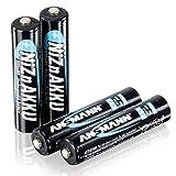 ANSMANN Micro AAA Akku Nickel-Zink (NiZn) 900mWh/1,6V hohe Spannung - für batteriebetriebene Geräte (4er Pack)