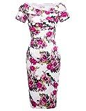 50s retro vintage kleid damen pencil kleid kurzarm keid partykleid Größe 40 BP117-10
