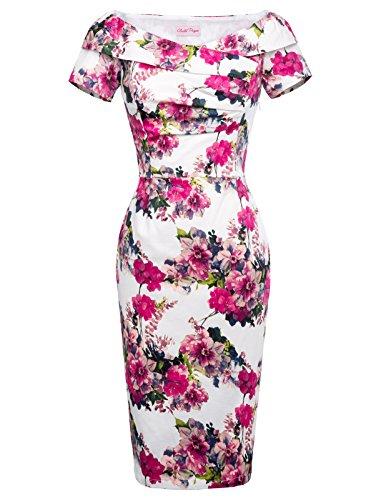 Belle Poque 50er Jahre Kleid Vintage etuikleid Bodycon Kleid Rockabilly Kleid Größe 38 BP117-10