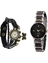 Talgo New Arrival Special Collection Dori Black Round Dial Black Leather Strap And IIK Small Silver Black Dial...