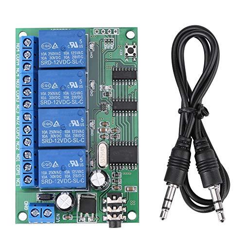 Signal Decoder Relais, 4 Kanal DTMF Ton Relais Signal Decoder Telefon Fernbedienung SPS, AD22B04 12V Dtmf Tone Decoder