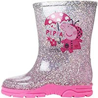 Girls Peppa Pig Glitter Wellington Boots UK Child Sizes 5-10 (10 UK Child, Copiapo (Pink))