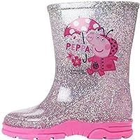 Girls Peppa Pig Glitter Wellington Boots UK Child Sizes 5-10 (9 UK Child, Copiapo (Pink))