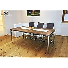 Esstisch Nussbaum Amerik Massiv Paris 140 X 80 Cm Designer Tisch Massivholz