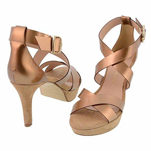 strisce sandali incrociati Misure: 40 Colore: ORO