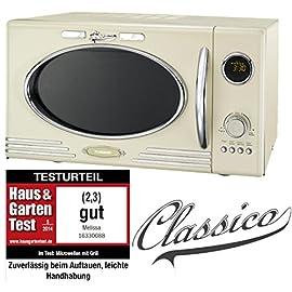 Adexi Melissa 163-30089-Forno a microonde 900W/25litri/Design Forno a microonde con grill/Crema