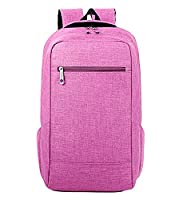 EssVita Unisex Casual Vintage Backpack College Students Backpacks Laptop Computer Bags for School Travel Daypack Rucksack (B Rose)