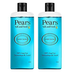 Pears Soft & Fresh Shower Gel, 98% Pure Glycerine, 100% Soap Free And No Parabens 250 ml