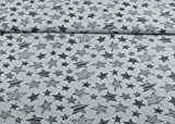 Excellenter Musselin Stoff gemustert mit Sternen auf