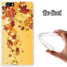 Becool® Fun - Funda Gel Flexible para Elephone M2, Carcasa TPU fabricada con la mejor Silicona, protege y se adapta a la perfección a tu Smartphone y con nuestro exclusivo diseño. Hojas otoñales