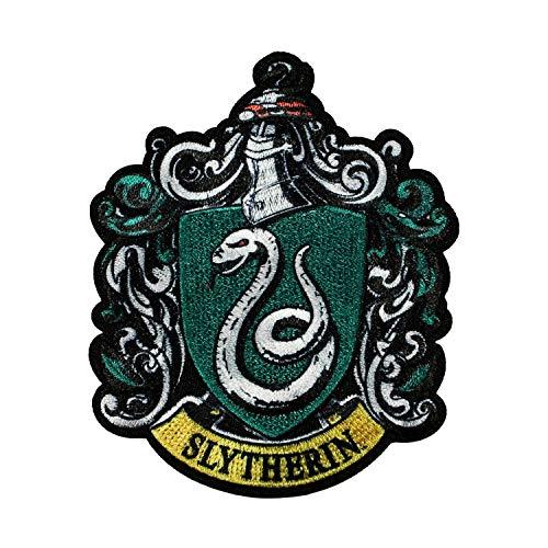 Harry Potter Slytherin Patch Hogwarts Wappen Haus bestickt Aufnäher - Slytherin Haus Kostüm