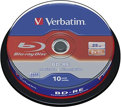 Verbatim BD-R Single Layer, Blu-Ray-Disc 25 GB - 6-fache Brenngeschwindigkeit - Kratzschutz, 10 Stück Spindel