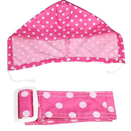 Zicac Imperméable manteau de pluie imprimé Polka points pour femme rose foncé