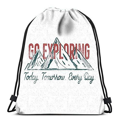 Randell Gym Drawstring Backpack Sport Bag Retro Designs Vintage Frame Ornaments Summer Holidays Lightweight Shoulder Bags Travel College Rucksack for Women Men - Ente Frame