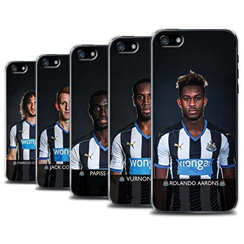 Offiziell Newcastle United FC Hülle / Case für Apple iPhone 5/5S / Pack 25pcs Muster / NUFC Fussballspieler 15/16 Kollektion Pack 25pcs