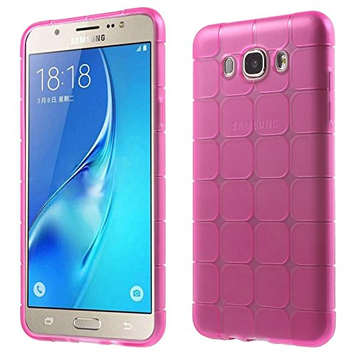 Kelpuj TPU/Rubber IceCube Design Transparent Back Cover for Samsung Galaxy Core Prime G360H - Pink