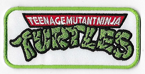 Turtles Kostüm Ninja Shredder - TMNT Logo bestickt Patches Applikation 7,5 cm Teenage Mutant Ninja Turtles Badge Kostüm Aufnäher Retro Cartoon Collectible Souvenir Cosplay