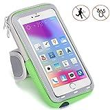 Handy Schutzhülle Tasche | für Doogee Y6 Max/3D | Sport armband zum Laufen, Joggen, Radfahren | SPO-2 Grün