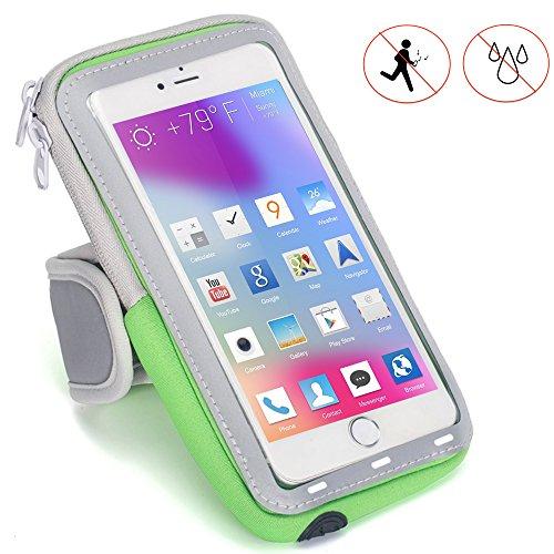 X-Tab Handy Armband für HTC Exodus 1 Sportarmband zum Laufen, Joggen, Radfahren SPO-2 Grün