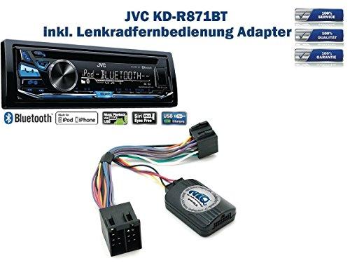 JVC KD-R871BT inkl. Lenkrad Fernbedienung Adapter Opel Astra / Agila / Corsa / Meriva / Omega / Vectra B / Vivaro / Zafira