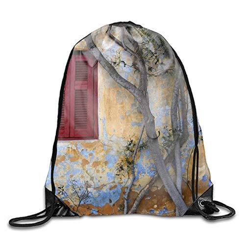 ZabJor Drawstring Backpack Bags Red Humming Bird Sport Gym Sack Adjustable Cinch Bag