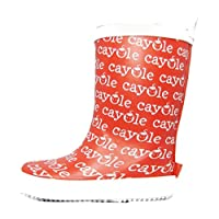Cayole Boys Girls Kids Infants Red and White Wellies Wellington Casual Waterproof Rain Boots