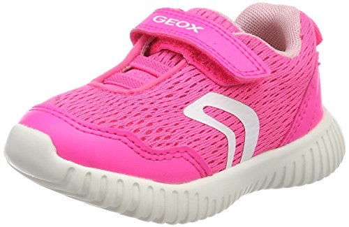 Geox Baby Mädchen B Waviness Girl B Sneaker, Pink (Fluo Fuchsia), 21 EU (Kleinkind Fuchsia Kinder Schuhe)