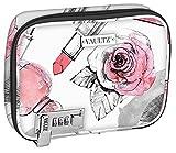 Vaultz vz03811Sicherung Everyday Soft Fall, Make-up-Fall mit abnehmbaren Beutel, Zahlenschloss, 21,6x 16,5x 5,1cm, Kosmetik Rosen