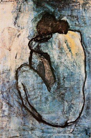 Leinwandbild Pablo Picasso, Blauer Akt ca. 1902 - 61 x 92cm - Premiumqualität - Turbo-Versand - MADE IN GERMANY - ART-GALERIE-SHOPde