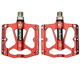 Fahrradpedale von UPANBIKE, ultraleicht, 1,43 cm, dreifaches Lager, aus Aluminium, rot