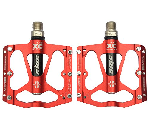 upanbike MTB Road Bike Fahrrad Ultraleichte 9/40,6cm Triple Bearing Aluminium Plattform Pedale, rot