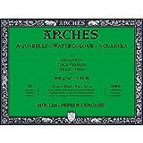 Arches blocco per acquerello incollato 4 lati (20 fogli) - grana fina - 300 g/mq - 23x31 cm