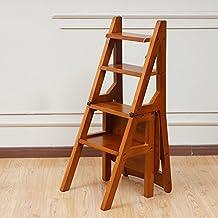 hogar cmodo plegable taburete para exterior silla de la escalera plegable de madera slida silla casera de mltiples funciones taburete de la