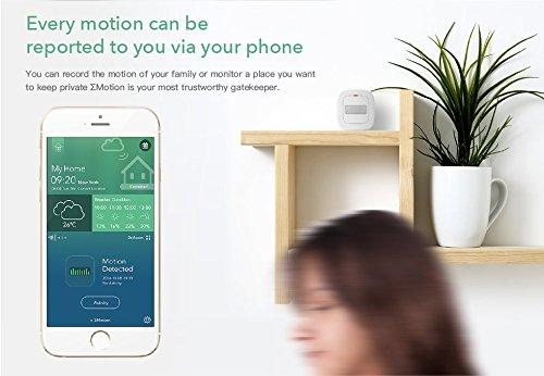 Sigma Casa Smart Motion Sensor – intelligenter Bewegungsmelder für Smart-Home Haus-Automatisierung dient als Alarmanlage, Licht-Steuerung oder Schaltung von Steckdosen über Smartphone oder Tablet - 6