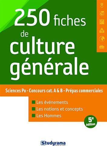 250 fiches de culture générale