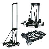 JOM 10085 Transport Trolley, Sackkarre, Gepäckträger bis 30 kg mit Teleskopgriff, höhe 92cm,...