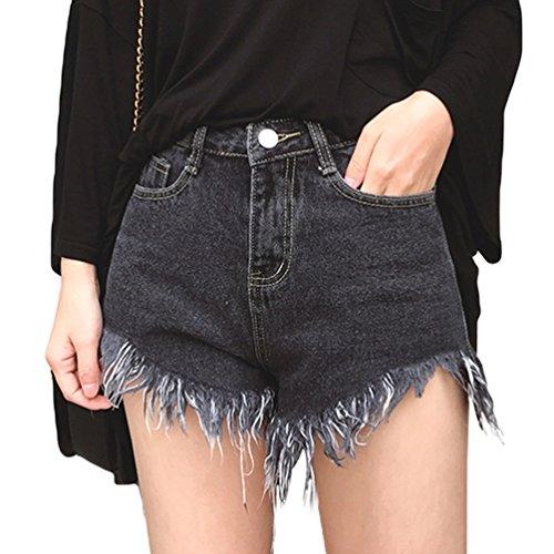 Sentao donna estate strappati denim shorts jeans vita alta denim pantaloncini corti